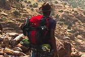 black male lifestyle social media influencer hiking in the canyons
